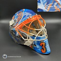 Billy Smith Signed Goalie Mask New York Legacy Signature Edition Autographed