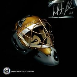 Martin Brodeur Black And Gold Edition Signed Goalie Mask New Jersey Autographed