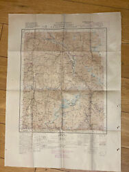 """1944 Antique Wwii """"restricted"""" Map Of India Kashmir Jammu Frontier Prov Gilgit"""