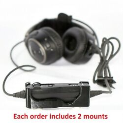 2pc Bose A20 Aviation Headset Control Clip-in Mount Accessory | 3-year Warranty
