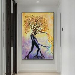 Tree Canvas Painting Posters And Prints Modern Wall Art Pictures For Living Room