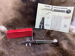 Pre 64 Fishing Knife With Leather Cord - Mint In Factory Red Box