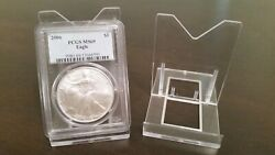 35 Adjustable 3-1/8 Display Stand Easel Coin Pcgs Ngc Air-tite Capsule
