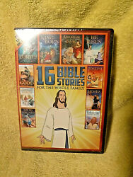 New/sealed Dvd Set 16 Animated Bible Stories For Whole Family Jesus Cover - Nest