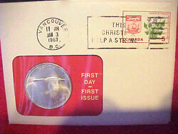 1967 33 99 Company First Day First Issue Canadian Silver Dollar Queen Elizabeth