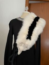 Vintage Night By Valentino White With Black Shoulder Fox Incredible