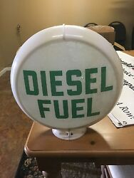 Diesel Gas Pump Globe Service Station Sign