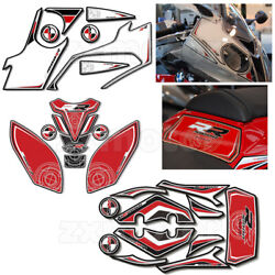 3d Gel Complete Fairing Fuel Tank Pad Decal Sticker For Bmw S1000rr 12-14 Red