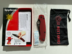 Spyderco Paramilitary 2 Red G10 4v Steel Knife C81gprdbk2 Exclusive New