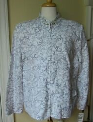 NWT ALFRED DUNNER EVENING WHITE SILVER EMBROIDERED ZIP FRONT JACKET Size 20 $24.98