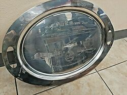 Otto K Olesen Postmaster Los Angeles Employees Union Hand Engraved Platter R