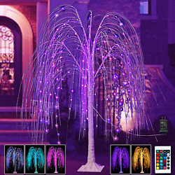 240led 5ft Lighted Willow Tree Christmas Decoration Color Changing Tree Purple