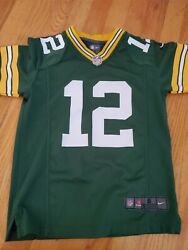 Aaron Rodgers Green Bay Packers Jersey Nike Boys 8 Small