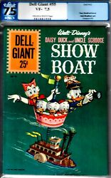 Showboat-dell Giant 55-pgx 7.5 Vf-1962 Uncle Scrooge