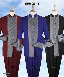 New Edition Royal Diamond Menand039s 2 Piece 6 Button Pastor Church Suit High Fashion