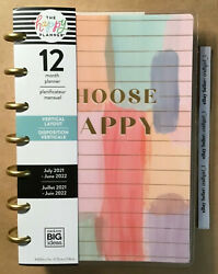 New 2021-2022 Me And My Big Ideas The Happy Planner Painterly Pastel Mini Verticl