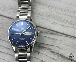 Tag Heuer Carrera Calibre 5 Automatic Date And Day Blue Dial Watch War201e