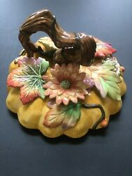 Fitz And Floyd, Harvest Heritage, Pumpkin Tureen, Lid Only