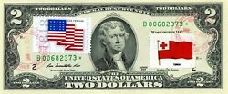 2 Dollars 2013 Star Stamp Cancel Postal Flag From Tonga Value 500