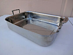 Sur La Table Heavy Duty Tri-ply Stainless Steel Large Roasting Pan 16x12x3.5