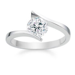 0.30 Cts Round Brilliant Cut Diamond Anniversary Solitaire Ring In 750 18k Gold
