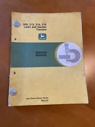 John Deere 300, 312, 314, And 316 Hydrostatic Tractor Service Manual Sm-2104