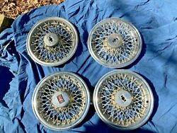 1978 - 1987 Olds Cultass Supreme Wire Wheel Covers Hub Caps