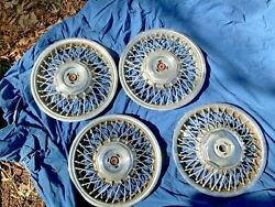 1998 - 1999 Buick Lesabre Park Ave 14 Wire Wheel Covers Hub Caps