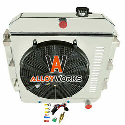 3 Row Radiator Shroud Fan For 1955-1959 Chevy Apache Truck And Gmc 100 150 Pickup