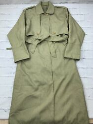 Vintage Maggie Lawrence Womenand039s Size 8 Polyester Nylon Full Length Coat Brown
