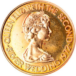 [905848] Coin Jersey Elizabeth Ii 20 Pounds 1972 Ms65-70 Gold Km41