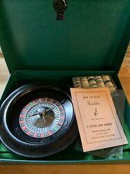 Vintage Royal Roulette Game Crisloid Plastics Brand In Box Midcentury Game