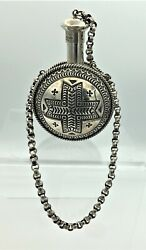 Sunshine Reeves Vintage Rare Navajo Early Canteen Collectable Stamped Ss Signed