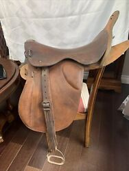 Antique Military Officers Saddle Dated 1887 London England Haynes And Son