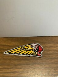 Vintage Indian Motorcycle Patch Collectible Old Biker Usa Mc Cycle Memorabilia