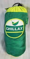 Chillax Double Travel Hammock Integrated Suspension Green New with Tags Portable