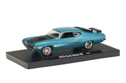 M31 11228 06 M2 Machines Auto Drivers 1970 Ford Torino Gt Turquoise 164