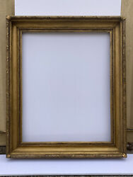 34 X 42 19th C. Large Antique Gold Gesso Picture Frame - 44 X 52 Outside