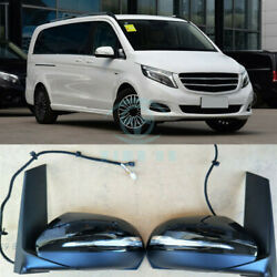 Auto Front Outside Lh+rh Side Rear View Mirror Cover Assy Fit For Benz Vito V260