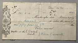 14th Feb 1889 Es And Ac Bank Cheque £50 English Scottish And Australian Chartered Ba
