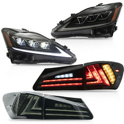 For 06-13 Is250/350 Sedan 08-14 Is F Amber Led Headlights+smoked Taillights