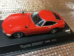 Kyosho 1/43 Scale Toyota 2000gt 1969-1970 Red Mini Car Toy