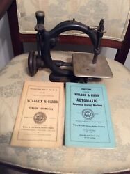 Vintage 1800s Antique Wilcox And Gibbs Sewing Machine