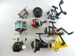 Mixed Lot Of 9 Fishing Reel Broken As Is For Parts Or Repair 9 Reels One Price