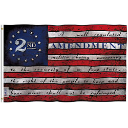 Anley 3x5 Foot 2nd Amendment Flag - 1791 Vintage Style American Flags