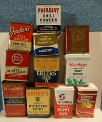 Vintage Advertising Collectible Spice Tin Lot - Great For Display - Lot 1