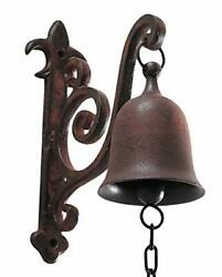 Vintage Cast Iron Dinner Bell As Entry Door Bell Outside Decor Indoor Decoration
