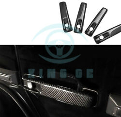 For Benz W463 G55 G63 G500 Door Handle Cover Trims Real Carbon Fiber Nq