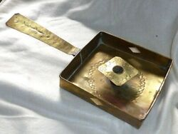 Rare Antique Georgian Hand Crafted, Country Brass Chamberstick Candle Holder