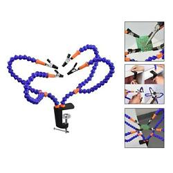 Flexible Arm Third Hand Soldering Station Stand Holder Alligator Clip Tool